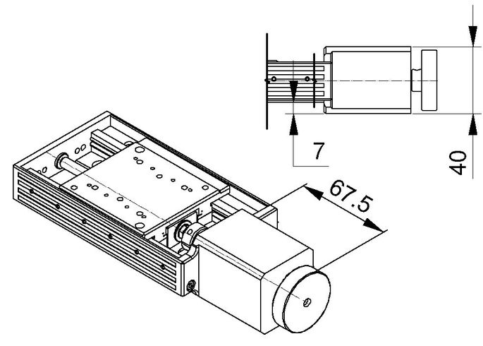 [Translate to Chinese:] VT-80 Stepper Motor Drawing