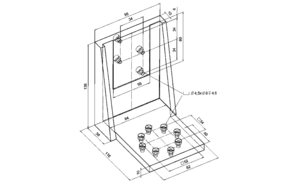 PI M-125.90 Z-Axis Mounting Bracket Drawing