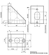 PI M-110.0x Z-Axis Mounting Bracket Drawing