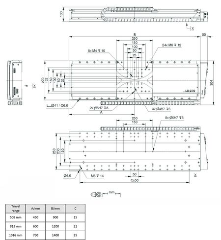 [Translate to Chinese:] PI LMS-270 Drawing