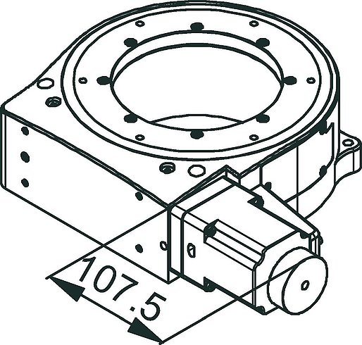 [Translate to Chinese:] PRS-200 Stepper Motor Drawing
