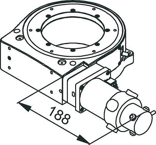 [Translate to Chinese:] PRS-200 DC-Motor Drawing