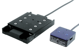 [Translate to Chinese:] The smallest closed-loop linear stages with self-locking PILine® drive: M-664 (right) and M-663 (left)