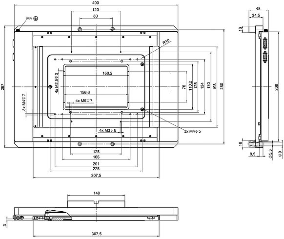 [Translate to Chinese:] Figure 2: M-687.UN for Nikon microscopes, dimensions in mm